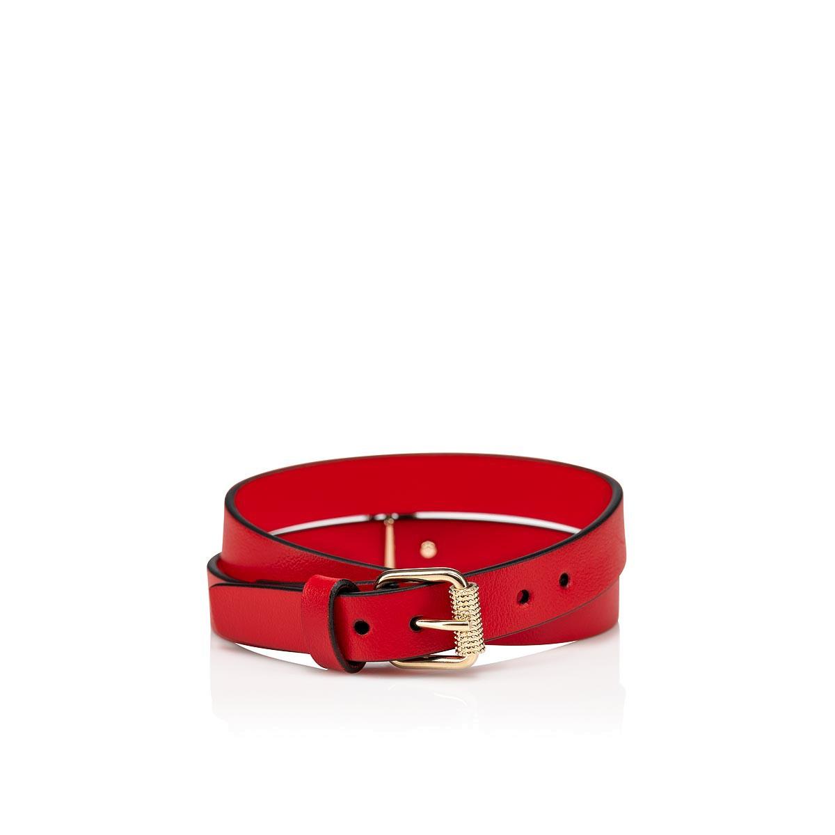 スモールレザーグッズ - Loubilink Logo Bracelet Double - Christian Louboutin