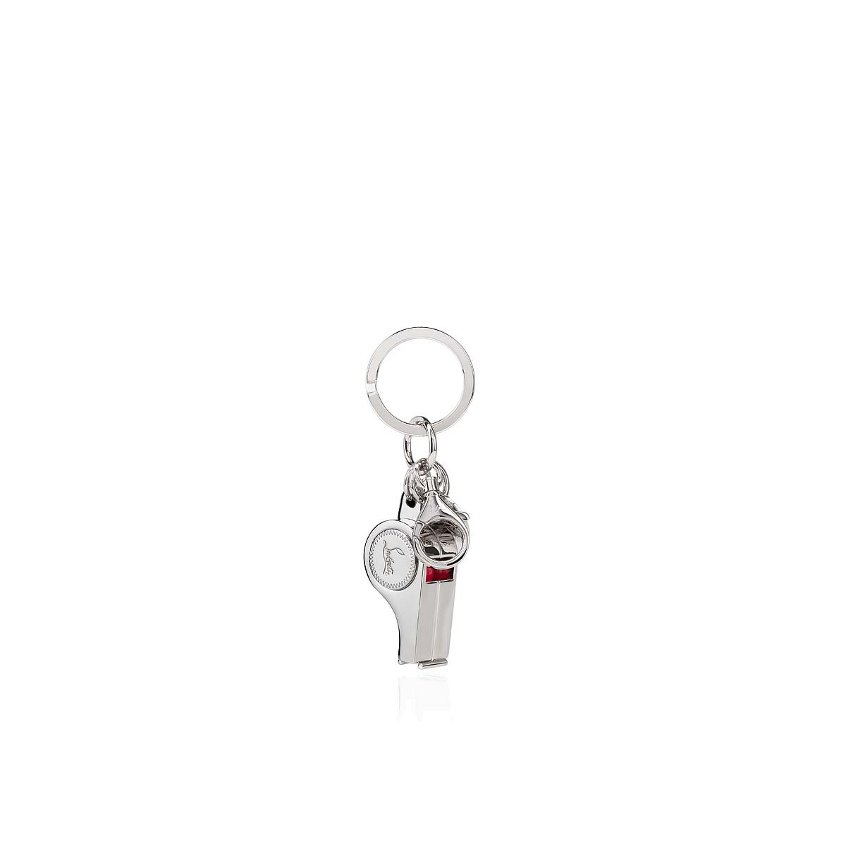 レザーグッズ - Whistle Keyring - Christian Louboutin